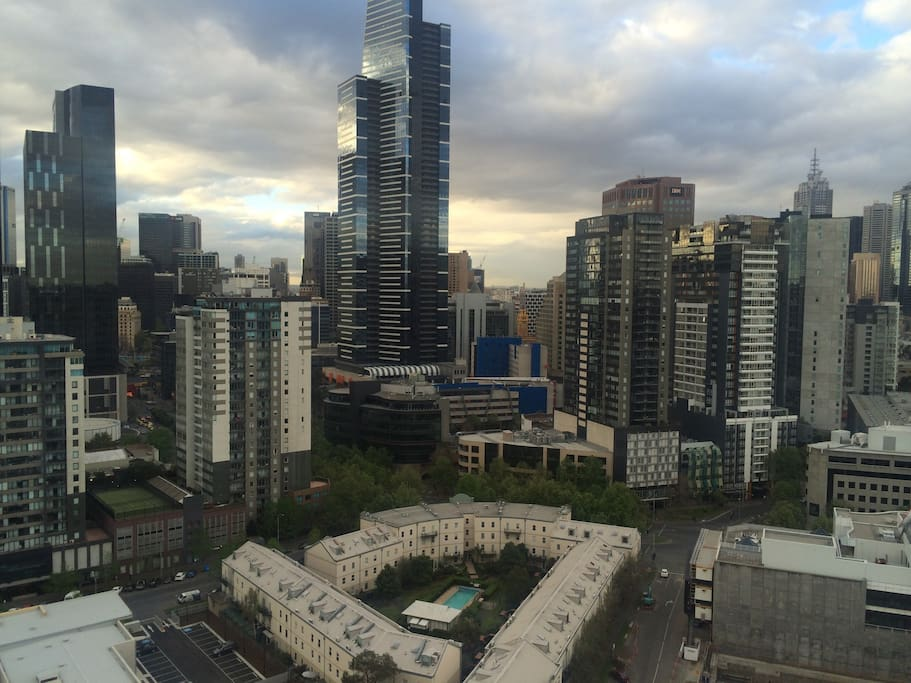 Views across the CBD during the day.