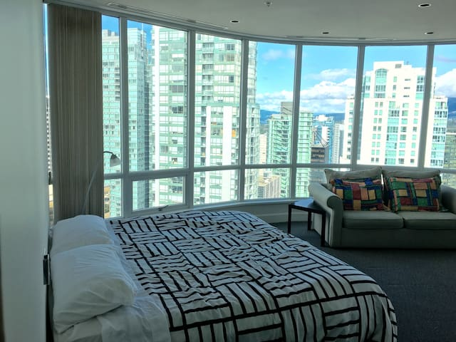 Penthouse Waterfront Hotel Style Bedroom Downtown - Vancouver - Appartement