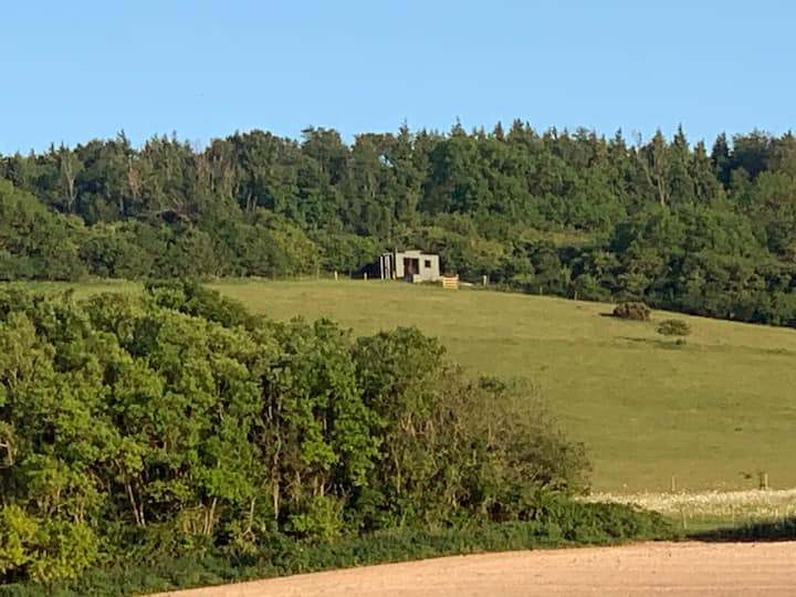 A secluded cabin in a glorious downland setting