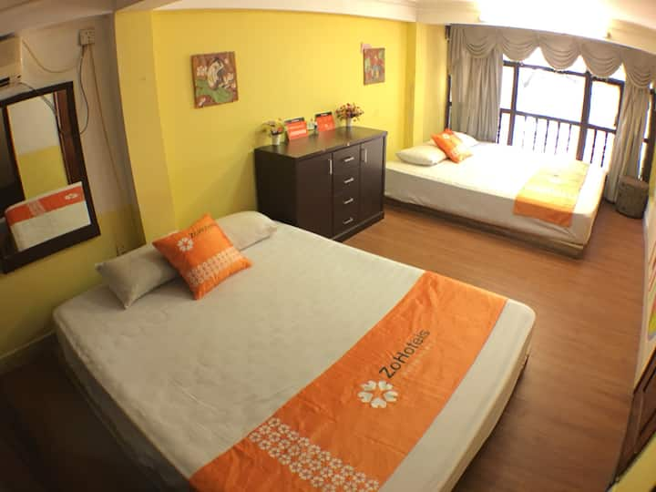 ZOHotels Hang Muoi - Quadruple Room With 2 Beds