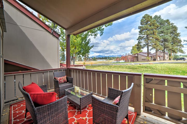 This 2-bedroom home offers great mountain views and an even better location!