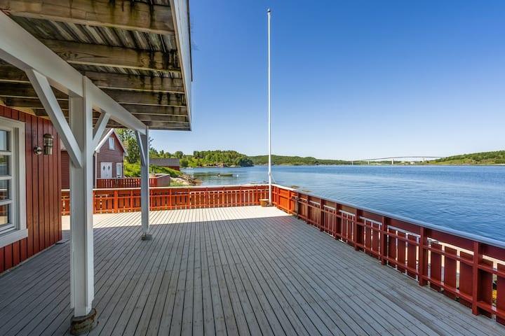 Flott sjøhus rett ved Saltstraumen