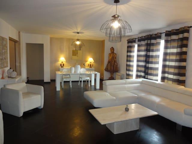 villa privee 9 pers bord de mer borgo marana plage - Borgo - Dom