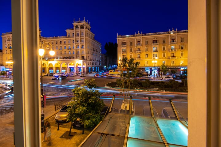 View from the apartment to the Agmashenebeli Square ( the heart of Tbilisi)