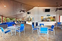Enjoy the outdoors under a shaded gazebo by the bar