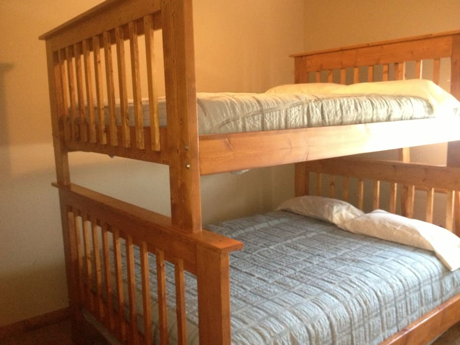 Custom Full over Queen bunk bed in second bedroom on the mail level