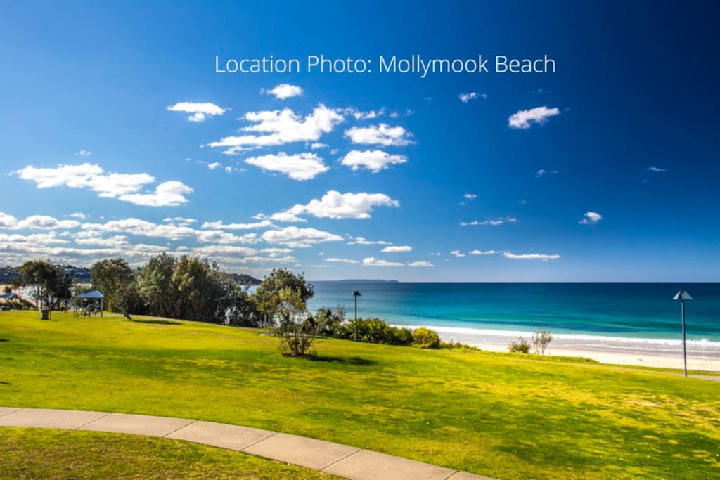 location photo - Mollymook beach and park in walking distance