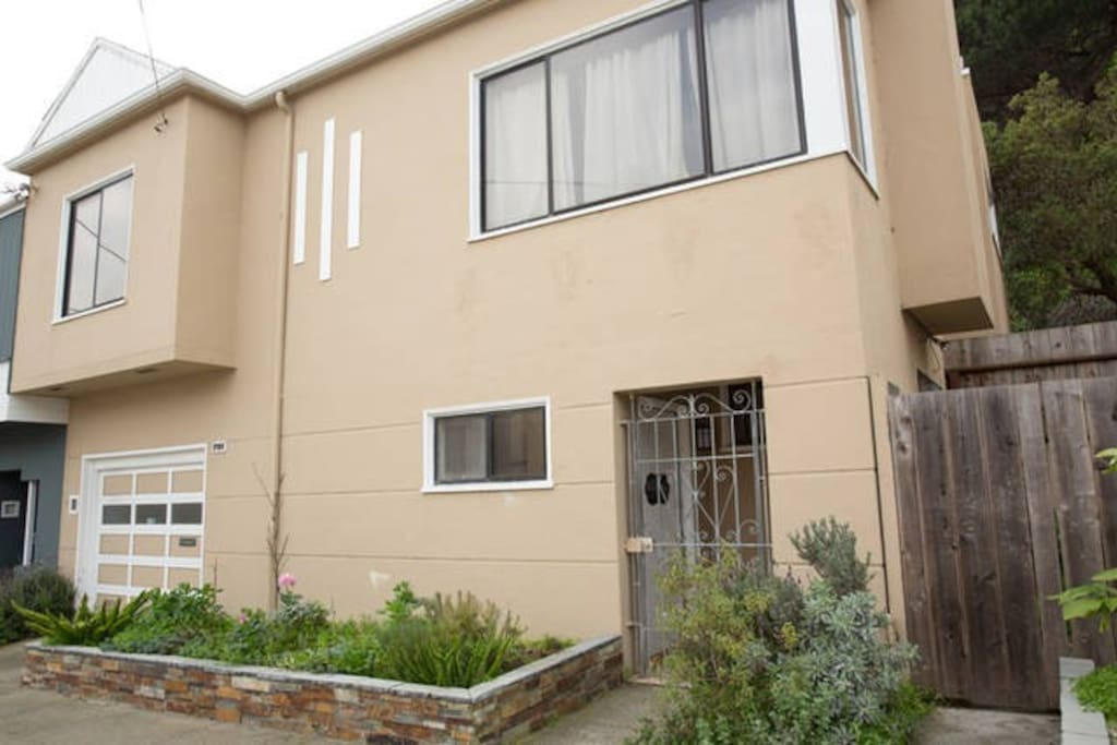 Front of house. Only  the upstairs is available for rental. Downstairs is a separate unit.