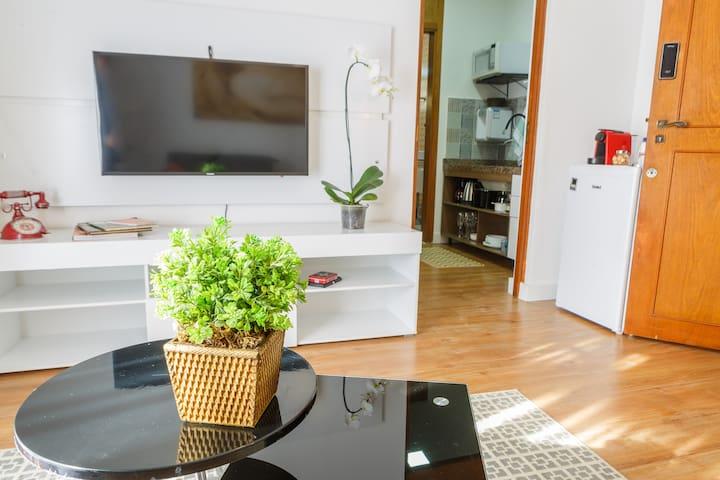 Apartamento aconchegante na Praça Pôr do Sol