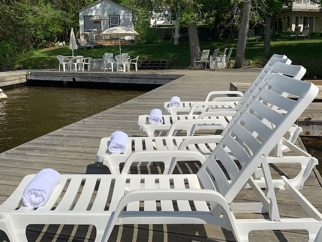 Lounge on one of our docks and meet new friends