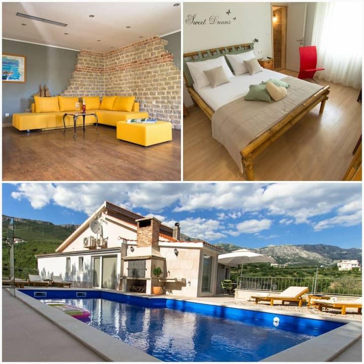 NEW! Villa Amore Split with pool, gym, fun zone..