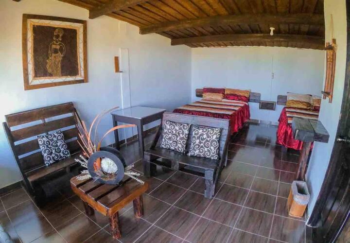 Cabañas Shangrilá Zacatlán, temazcal fogata