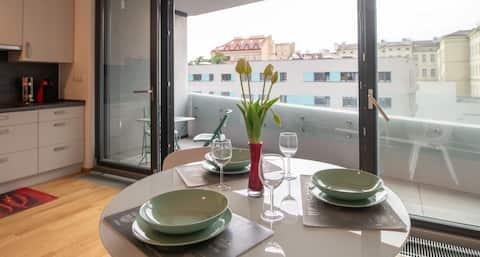 Ny leilighet med terrasse
