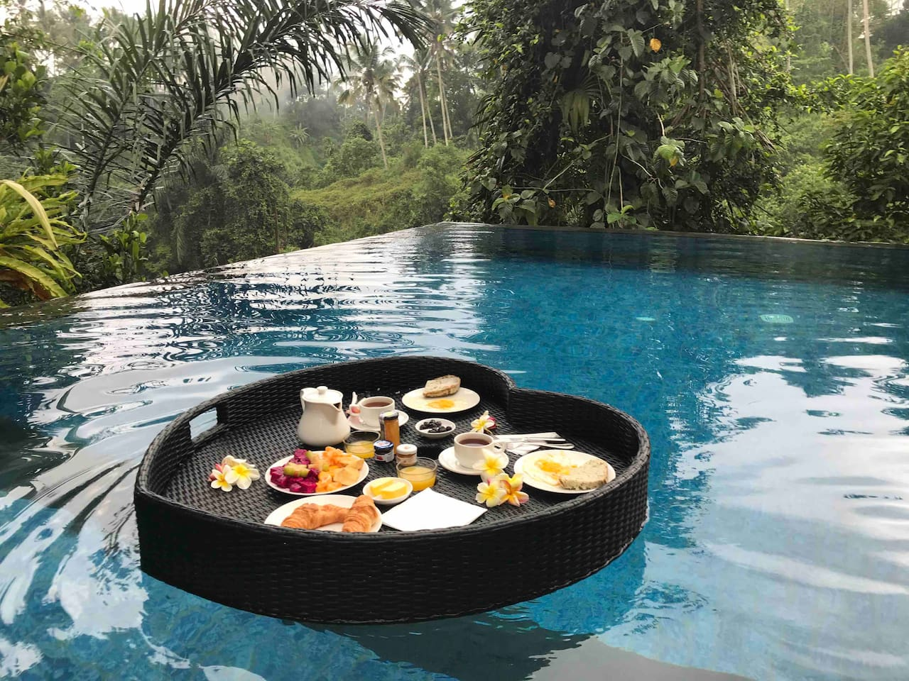 We offer our guests one complementary floating breakfast on their requested morning