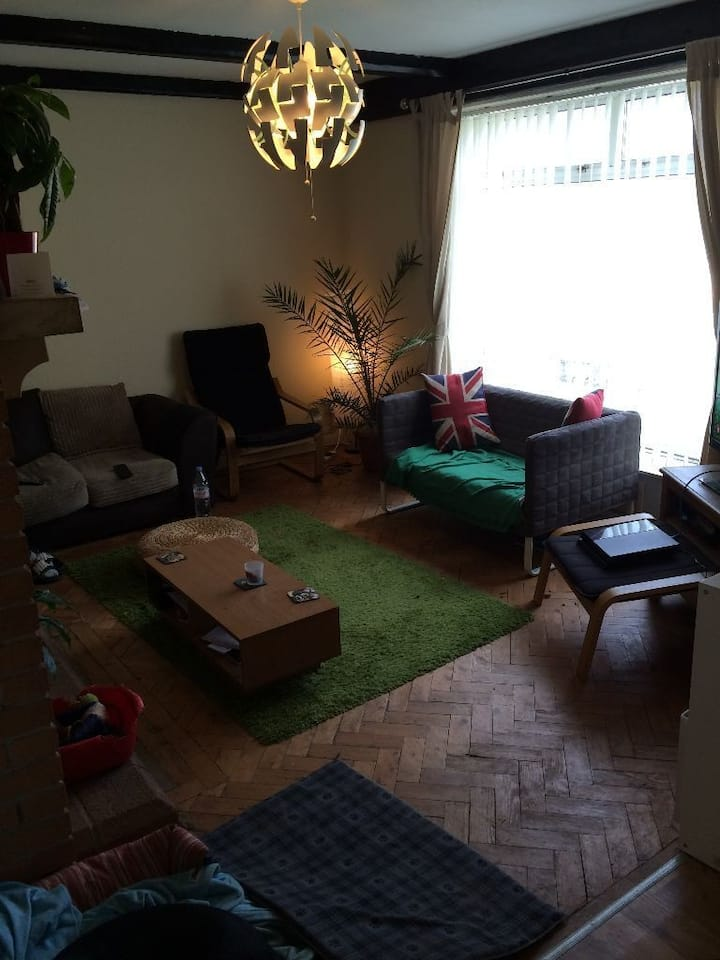 1 Single bright room in 5 bed house free till Sep.