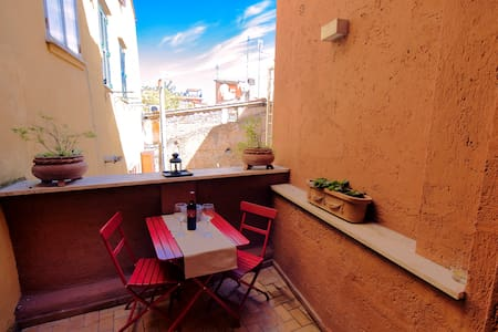 Room with terrace and private bathroom - Roma - Apartment