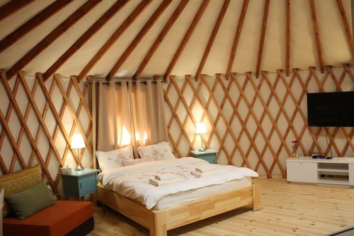 Mongolian Yurt in the desert