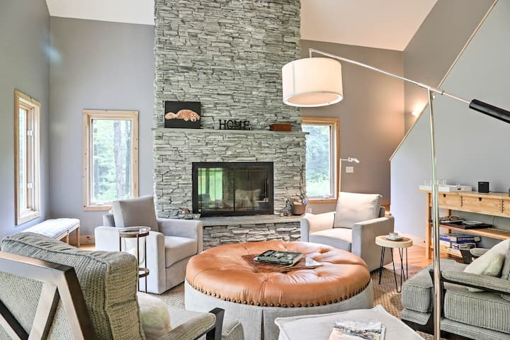 Berkshires Home on 11 Acres w/ Pond & 2 Fire Pits!