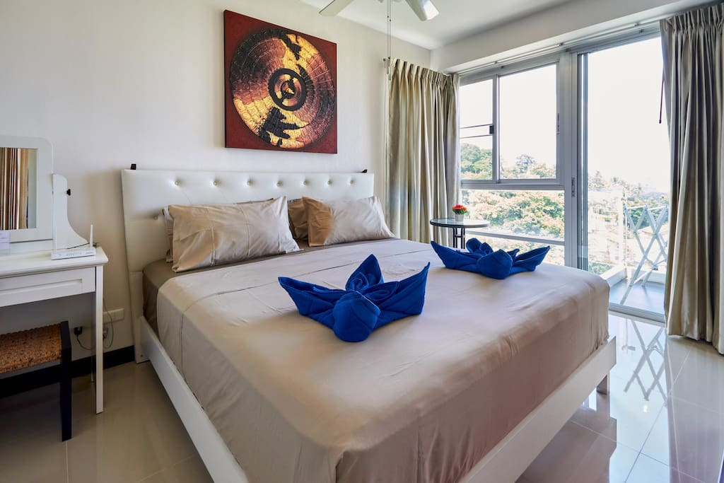 Master bedroom with super comfortable king size bed