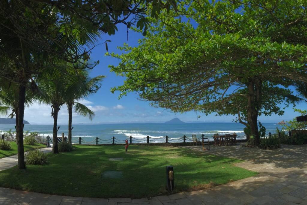 Vista do deck da praia