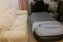 A comfy airbed in the living room is an option as well!