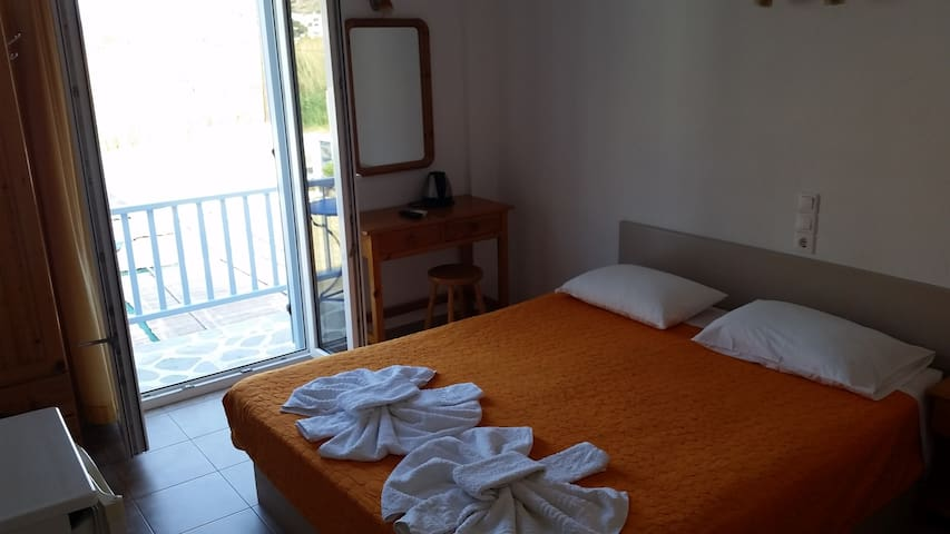 Double room no2, 50 meters from a beautiful beach!