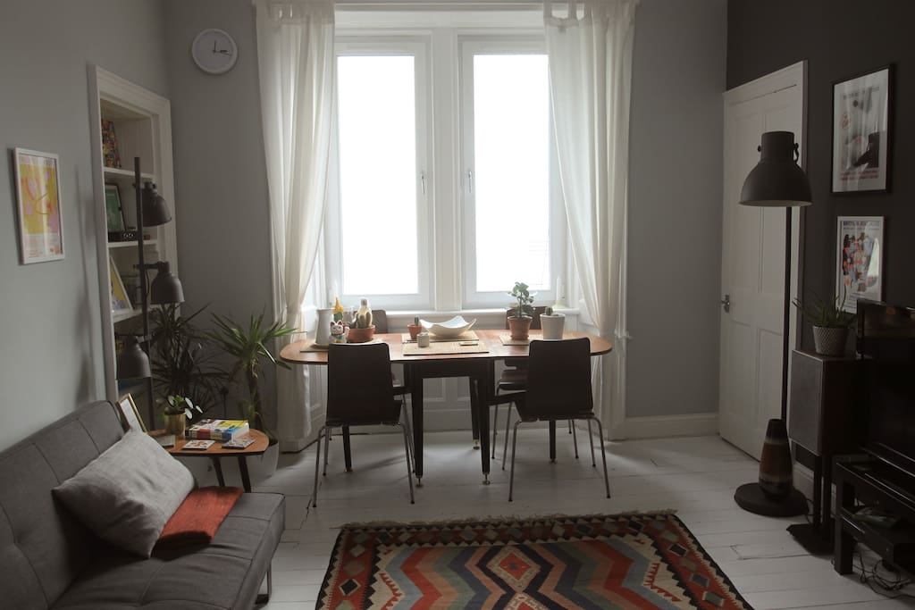 Living room in daylight.