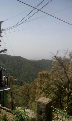 Scene of Doon Valley from outside the Cottage