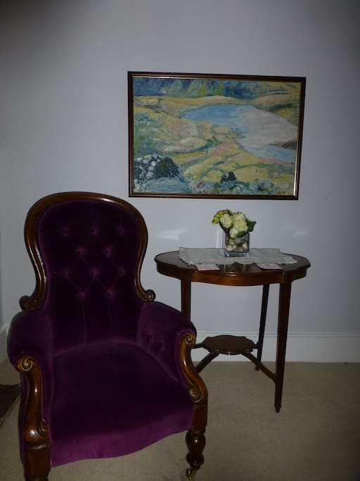 Antique fireside chair for quiet reading