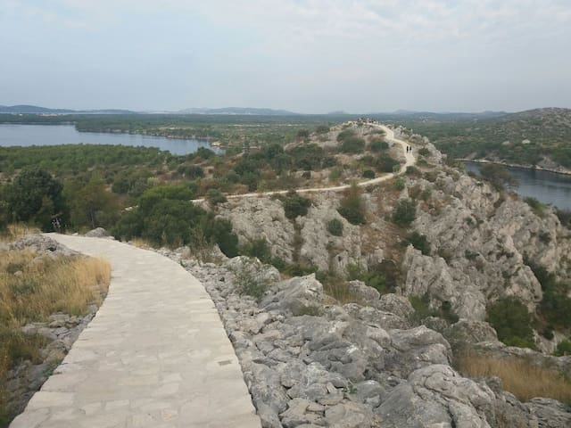 Walkway along St. Anthony's Channel in Šibenik