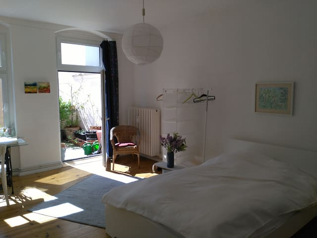 Large room with balcony close to city center