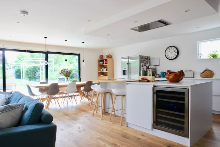 Spacious and modern open plan living space