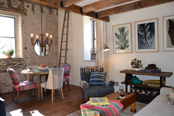 Sunshine & modern comfort in a stone mill - Frenchtown