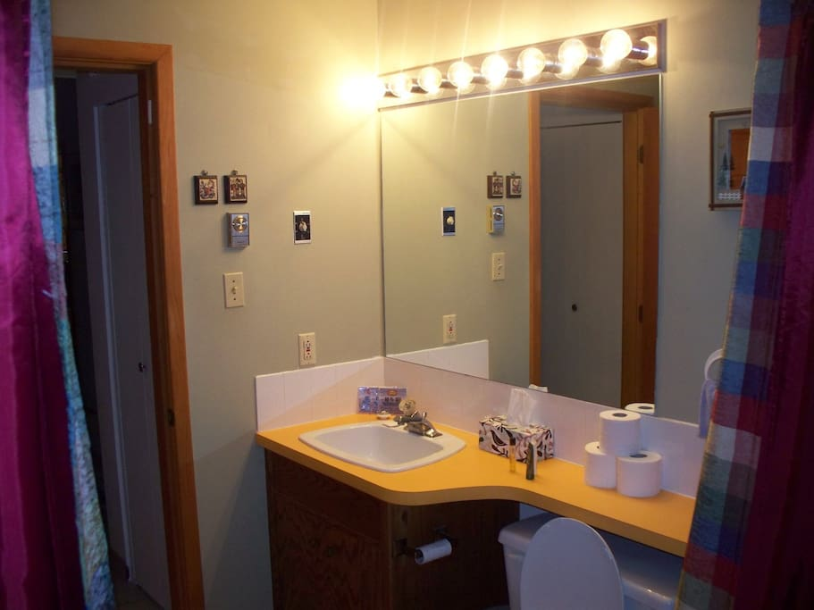 Lots of counter space - private bathroom