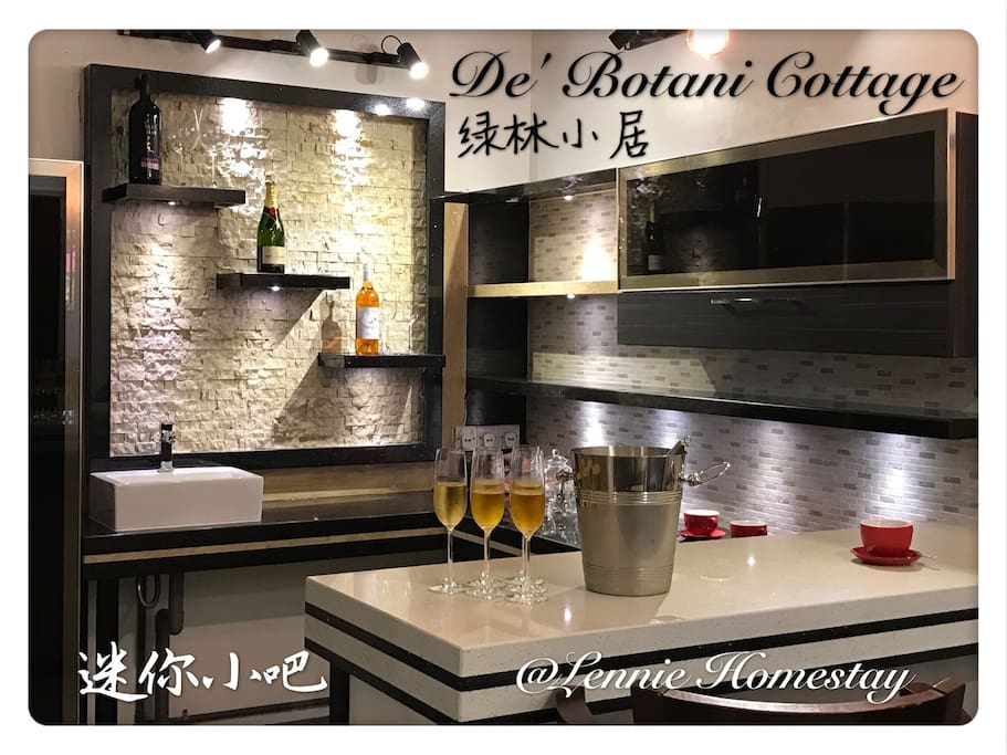 Feel Bored or holiday don't know where to hang out !!! Just come to De' Botani Cottage enjoy for a cup of Coffee or a glass of Champagne with your friends la. Mini Bar is ready to serve you.