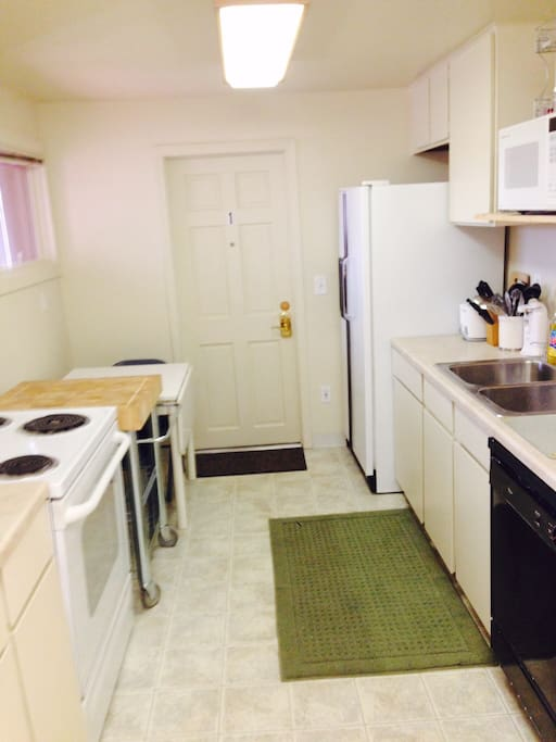 Shared kitchen right outside your door!