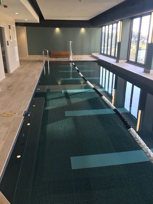 Indoor swimming pool in complex for guests to enjoy