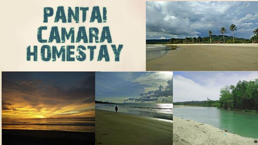 Beautiful scenery in Pantai Camara