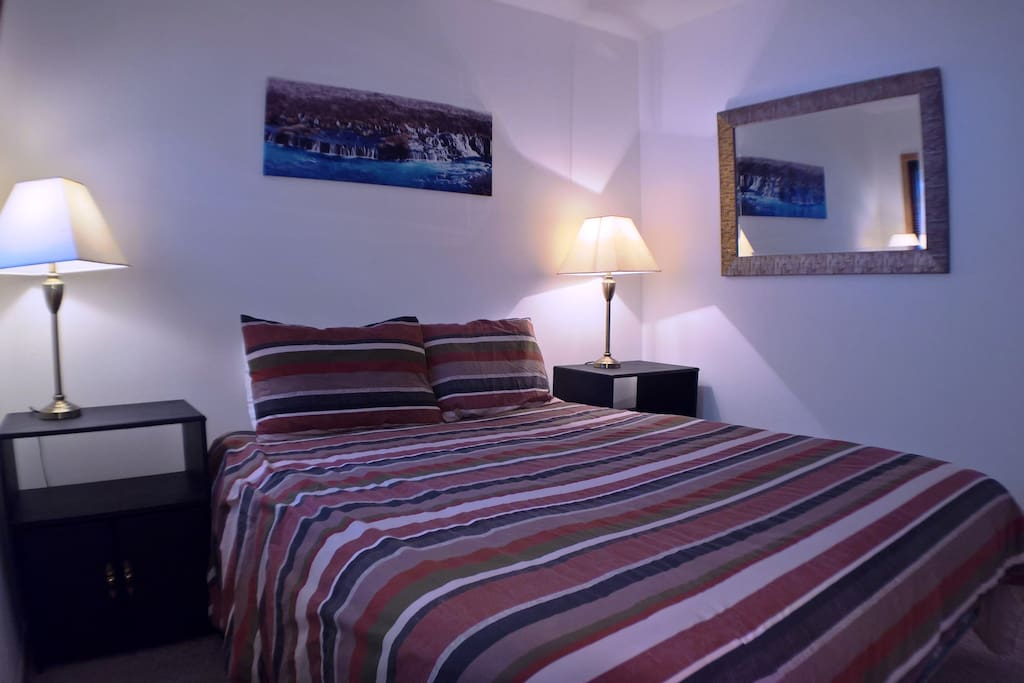 comfortable bed to sleep in after active day of skiing, hiking, biking..