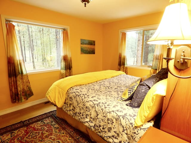 Wake up in the forest. Master bedroom.