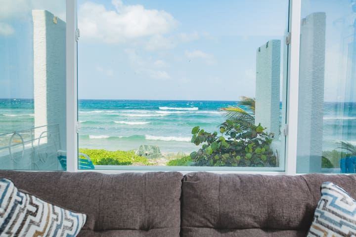 View from the master bedroom! Imagine waking up to this every day!! Picture also shows the COMFY COUCH for reading and dreaming.