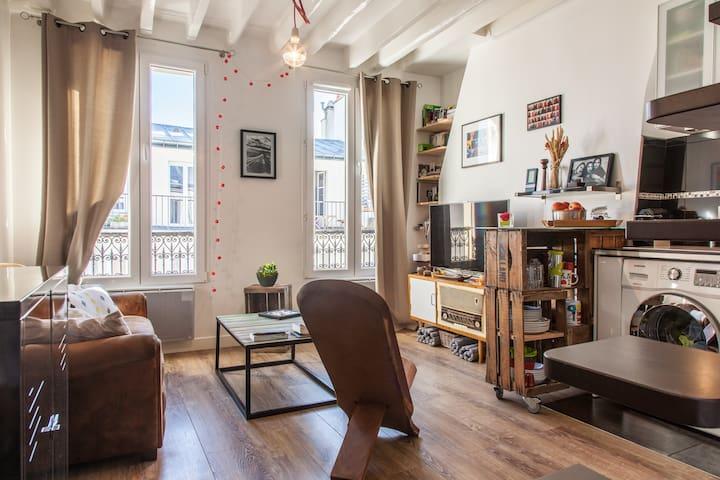 Cozy appartement - 2 pièces duplex - París - Departamento