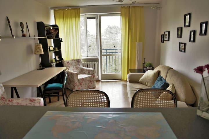 2-room apt w/balcony, WiFi, near the city center