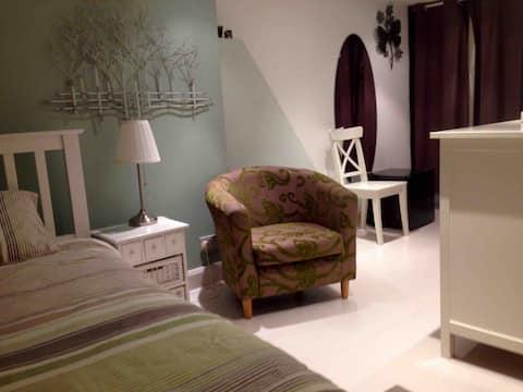 Stylish loft room stunning private shower room