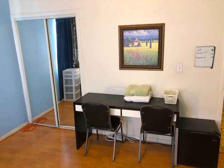 Spacious single room for up to three