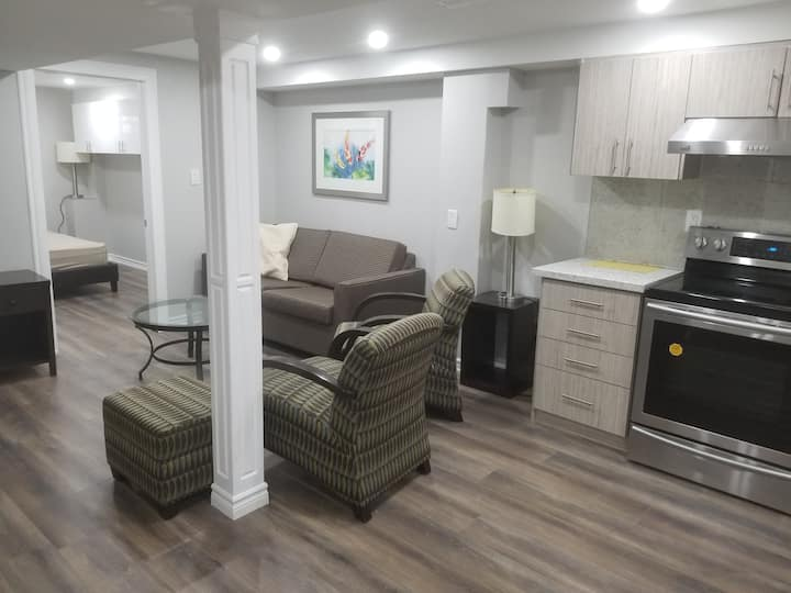 One Bedroom in a Basement apartment for 2 to 4 PPL