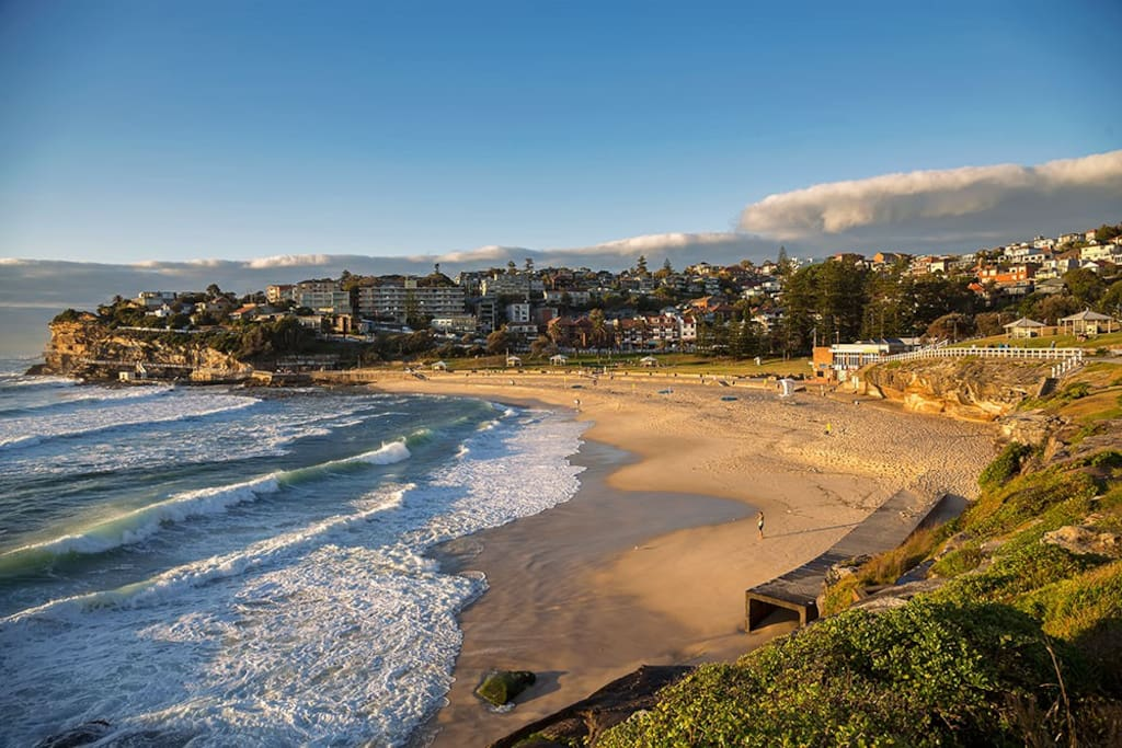 Bronte Beach is just a few steps outside the door
