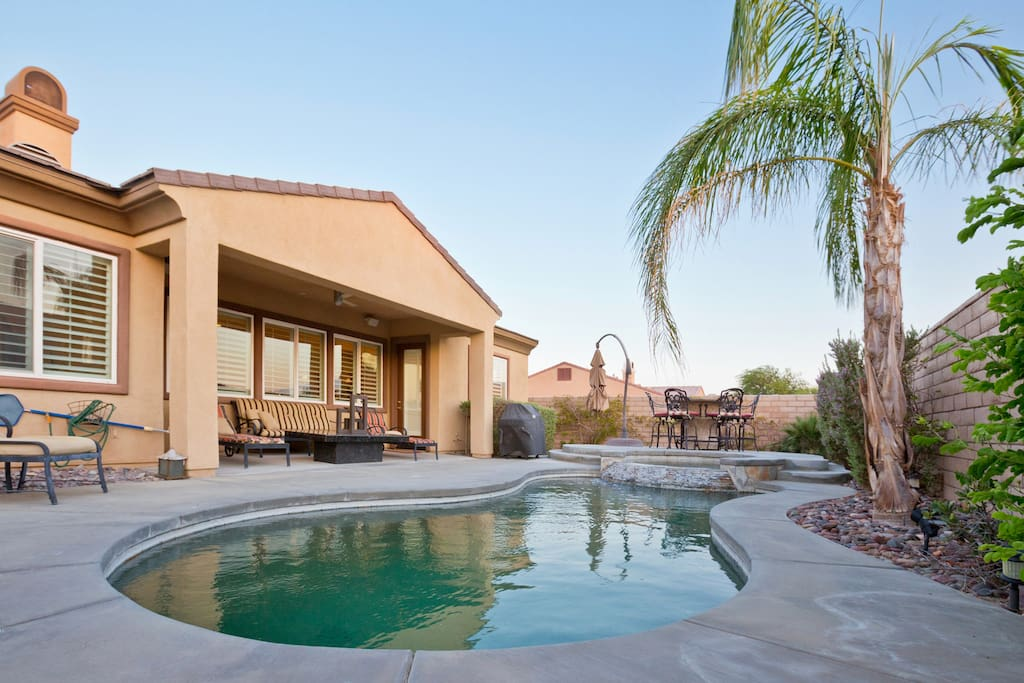 Jump in the private pool or relax in the spa or enjoy the BBQ in the backyard with Peace and Privacy
