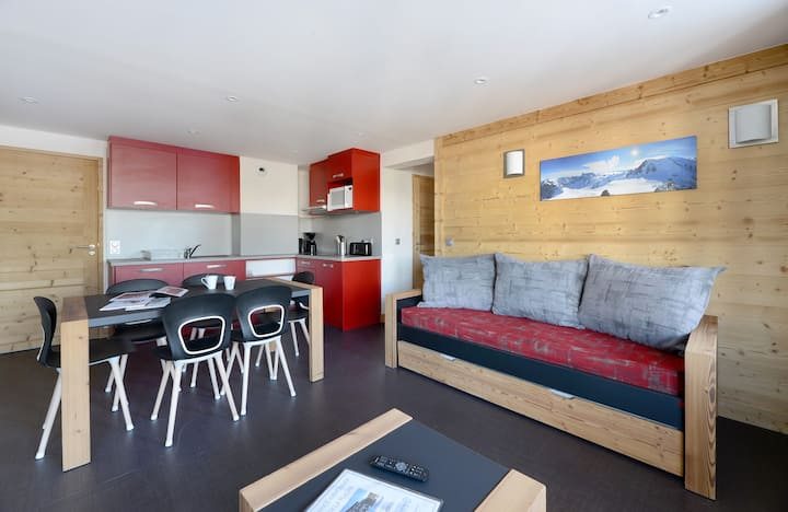 Renovated 3 rooms in a family resort at the bottom of the slopes