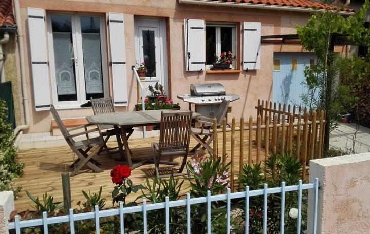 Maison, 5 pers. 2 terrasses de 25 m2, vue Canigou